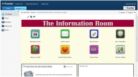 School Information Room free download for Fronter users